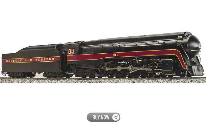 Coming in July 2016<Br>N&W J-Class #611, Live Steam<br>1:32 Scale, 45mm Gauge