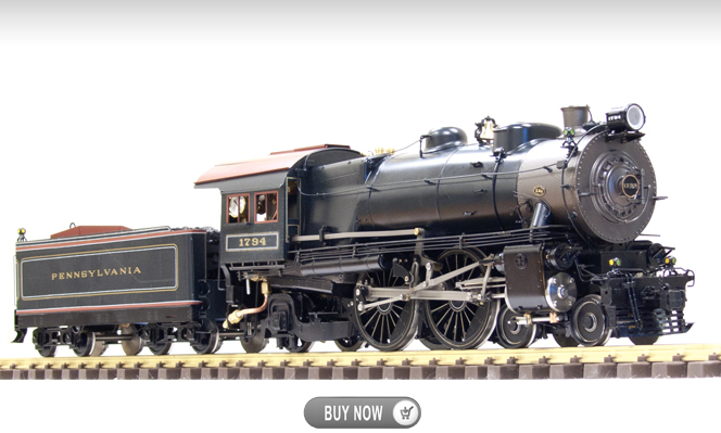 Coming in July 2016<br>PRR 4-4-2 E-6, Live Steam<br>1:32 Scale, 45mm Gauge