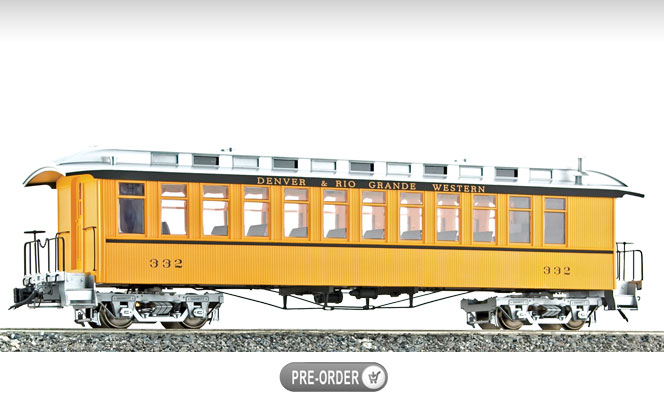 Coming Next Month<br>Jackson Sharp Coach & Combine<br>1:20.3 Scale, 45mm Gauge