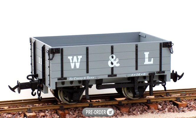 Coming Next Month<br>W&L Open Wagon<br>1:19 Scale, 45mm Gauge