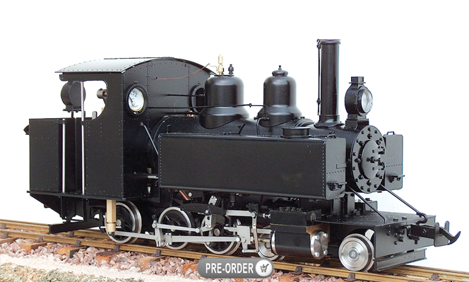 Coming in July 2016<br>WD Baldwin 4-6-0T, Live Steam<br>1:20.3 Scale, 45mm Gauge